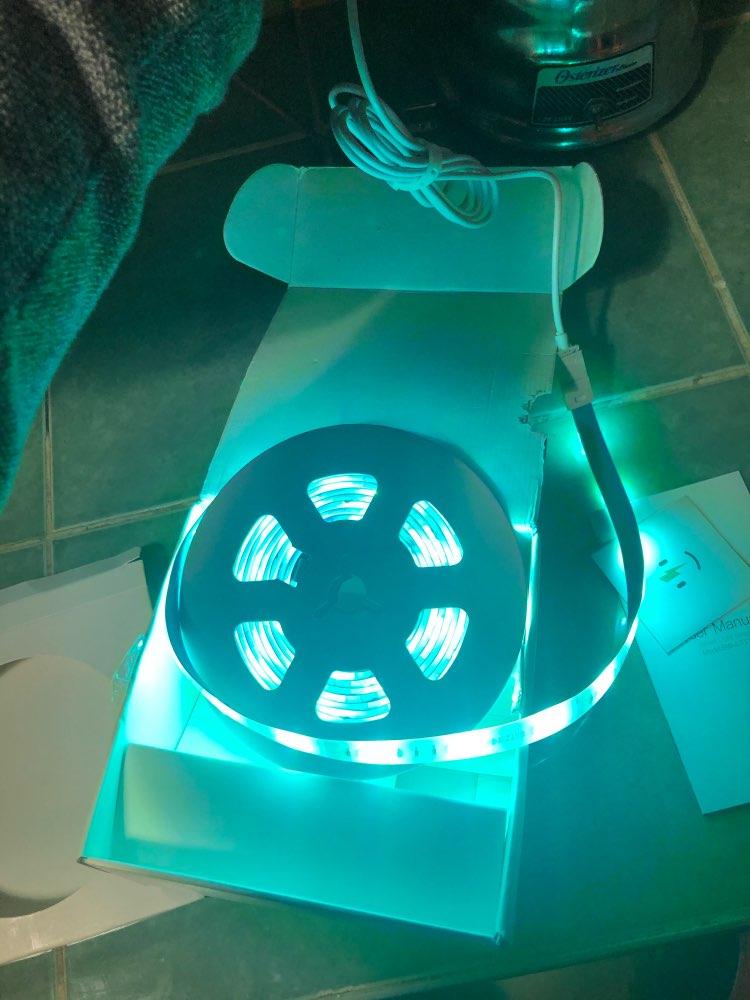 BlitzWolf BW-LT11 12V 2//5M RGB LED Strip Light Set 8 Modes LAMP APP